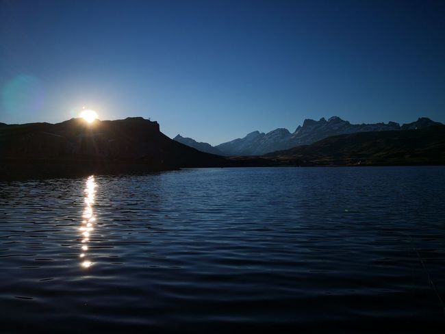 mountain in the morning Sun Rise Morning Morning Light Morning Sun Nofilter No Filter Astronomy Water Mountain Moon Clear Sky Lake Sunset Silhouette Sky Landscape