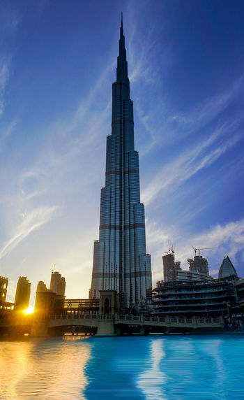 Burj Khalifa @u27364141 Building Exterior Architecture No People Long Exposure Cityscape Skyscraper Built Structure Dubaiskyline City Modern