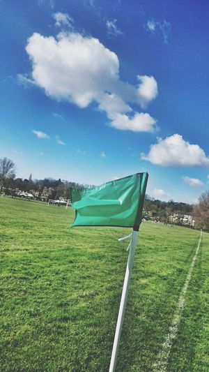 Football Lonely Flag
