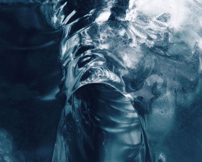 Perspectives On Nature Polar Climate Iceberg Glacier Frozen Motion One Person Close-up Nature Outdoors Day People Winter Ice Cold Temperature Power In Nature Iceland The Week On EyeEm Blue Shades Of Winter