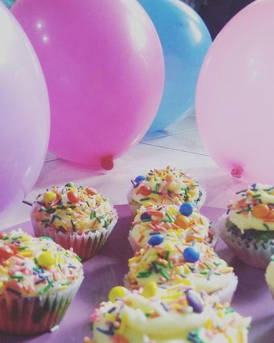 Colorful cupcakes ❤ Celebration Balloon Birthday Celebration First Eyeem Photo