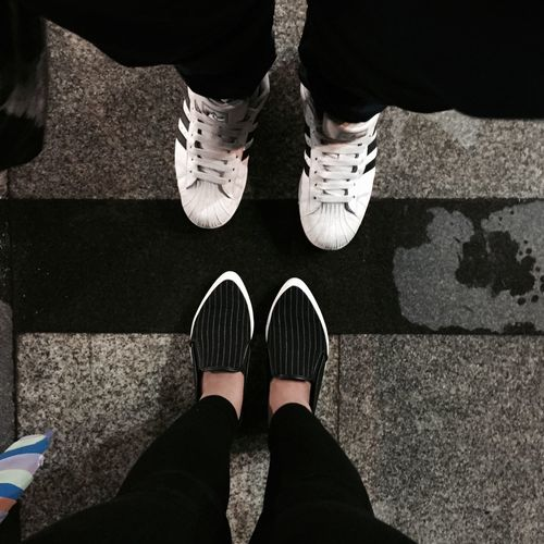 Another Shoe Selfie Me & Bro Because We Are Happy! Blackandwhite