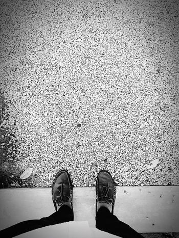 Hello World shoes stones black and white Relaxing Taking Photos