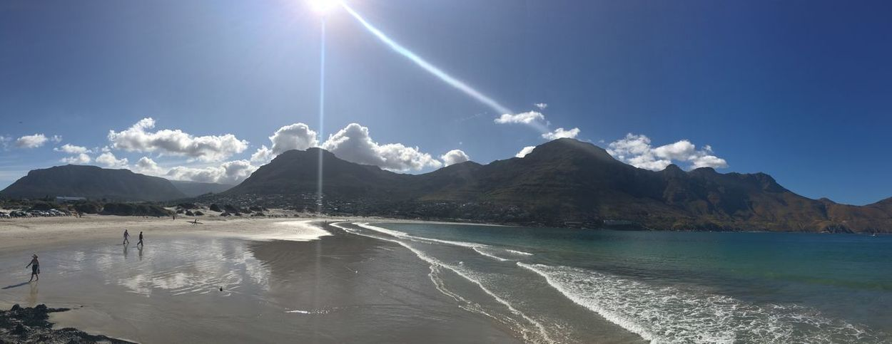 South Africa Beauty In Nature Sky Nature Mountain Scenics Water Sunlight Tranquil Scene Outdoors Waterfront Blue