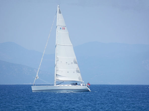 Beauty In Nature Clear Sky Day Kos Island Live For The Story Mountain Nature Outdoors Sailing Boat Scenics Sea Sky Summer Dream Sun And Wind Tranquil Scene Tranquility Water White Sail