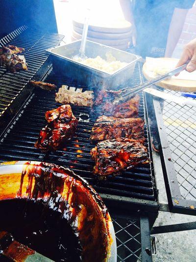 Food Enjoying Life BBQ Time Taking Photos