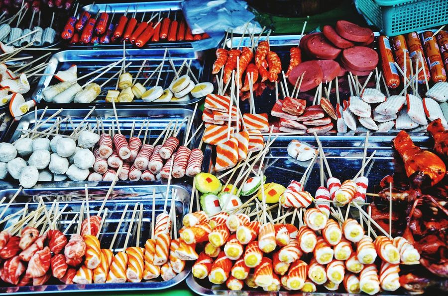 Selection Myanmar Street Food Myanmarstreetphotography Exotic Food Food Market EyeEm Selects For Sale Food And Drink Large Group Of Objects Choice Retail  Abundance Market Multi Colored Healthy Eating Arrangement Variation Freshness Market Stall Food Stories
