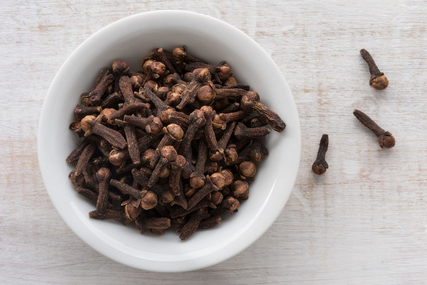 whole cloves Autumn Isolated Aromatic Botany Close-up Cloves Fall Food High Angle View Ingredient No People Whole