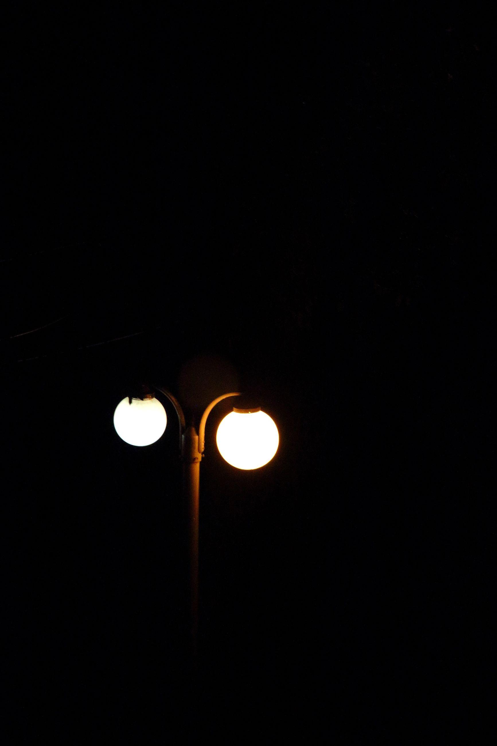 illuminated, no people, lighting equipment, low angle view, night, dark, outdoors, nature, black background, close-up, sky