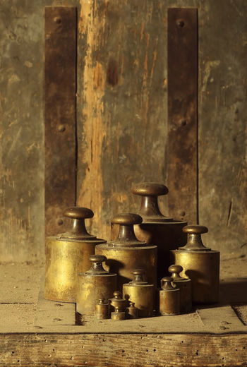 precision weights for a balance scale , still life background Background Bronze Close-up Family Indoors  Metal No People Object Object Photography Rusty Rusty Background Rusty Metal Scale  Still Life Still Life Photography