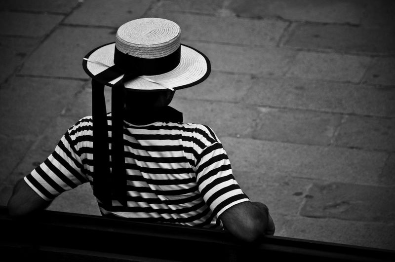 Blackandwhite Casual Clothing Gondoliere Lifestyles Street Photography Streetphotography Venice Venice, Italy People And Places Monochrome Monochrome Photography