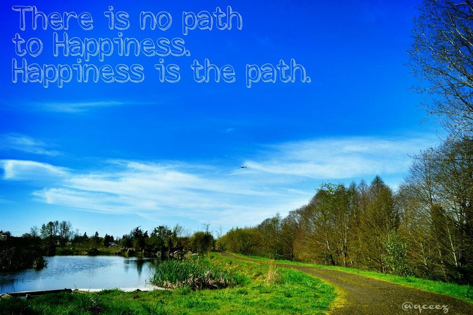 """There is no path to happiness. Happiness is the path."" ~Buddha~ Albany Oregon WillametteValley Happiness LoveForPhorography Outdoorlife Colorful Sky Walkoflife"