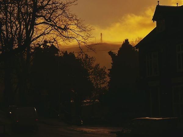 City Fog Sky Sunset No People Night Outdoors Tree Architecture Nature Town Industrial Hill Church Stretton Shropshire Hills Road Illuminated Town Centre Hillside Village Hills Hills And Valleys Natural Beauty Landscape_photography Sunrise