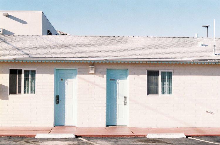 Minimalist Architecture 35mm Analogue Photography Filmisnotdead Pastel Power Motels