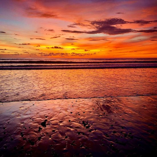 Strandpanorama Vitamin Sea Khaolak Thailand Sunset Water Sea Sky Beauty In Nature Scenics - Nature Orange Color Cloud - Sky Tranquility Land Nature Tranquil Scene Horizon Over Water Beach Horizon No People Idyllic Reflection Dramatic Sky Outdoors