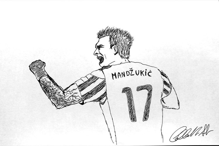 Football Mandzukic Mario Juve Juventus Juventusstadium Juventus Fan Juvecampione Juvemilan Juventus1897 Lion Champions Heart Love Team Croatia Croazia Croatie Croacia