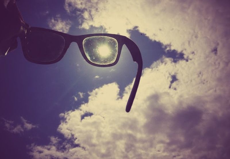 Getting Creative Sun Sunglasses Sky Clouds