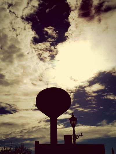 Sky Low Angle View Cloud - Sky No People Outdoors Silhouette Tower Vintage 1 Filter Water Tower Downtown Built Structure Eyemnaturelover Picturejunkie Pretty♡ Taking Photos Silhouette OpenEdit
