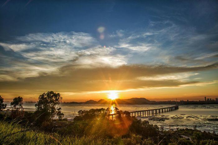Ha Pak Nai Sunset - ShenZheng Bay Bridge Sunset EyeEm Masterclass Capture The Moment EyeEm Nature Lover EyeEm Gallery Seeing The Sights EyeEm Best Shots - Sunsets + Sunrise Landscapes Sunset And Clouds  Landscapelovers