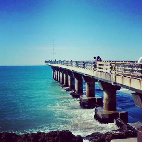 Missing Port Elizabeth. ♥ Portelizabeth Southafrica Happytimes Beach Ocean Sea Clouds Memorablemoments April 2014 Thingsilove Thingsimiss ♥♥♥ Bridge Waves Clearsky Rocks