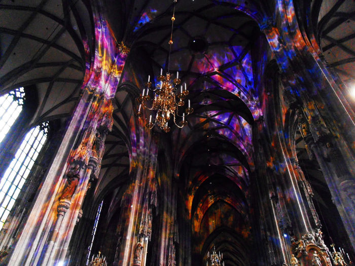 Stephansdom Vienna Architecture Ceiling Colorful Majestic Place Of Worship Religion There's Still Hope