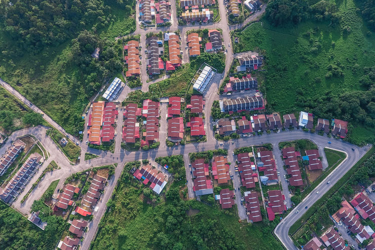 My small world Drone Landscape Houses Aerial Shot Aerial Photography Dronephotography Droneshot Drone Dji Dronepointofview Borneo Sarawak Malaysia Light And Shadow Tree Water High Angle View Grass Green Color