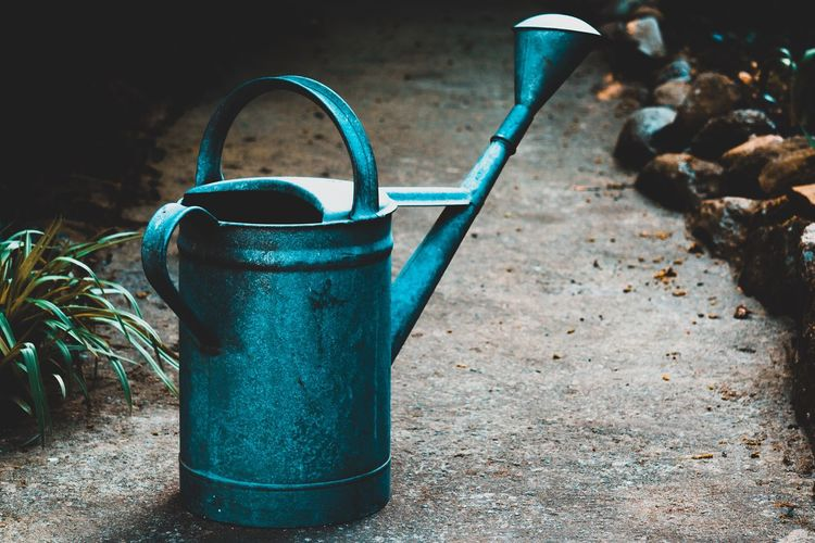Watering Can No People Gardening Can Still Life Day Pour Spout Metal Equipment Nature Close-up Handle Front Or Back Yard Gardening Equipment Focus On Foreground Growth Container Plant Dirt Table EyeEm Best Shots EyeEm Selects EyeEm Gallery My Best Photo