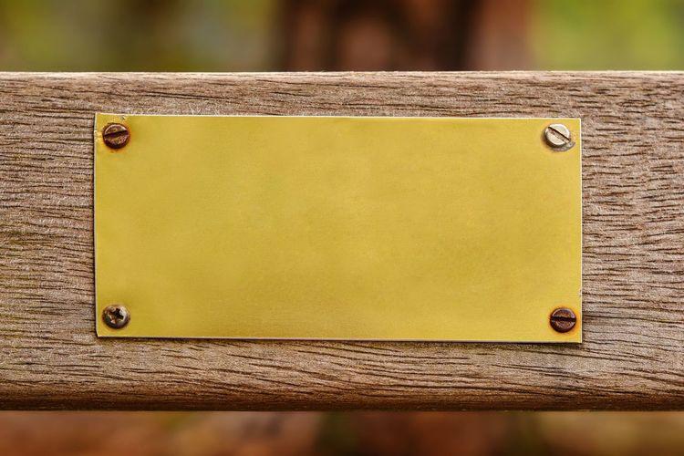 Close-up of yellow metal