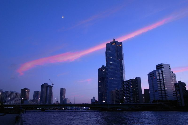 Cloud Sunset_collection Architecture Building Building Exterior Built Structure City Cityscape Financial District  Landscape Modern No People Office Building Exterior Outdoors River Sky Skyscraper Sunset Tall - High Tower Urban Skyline Water Waterfront
