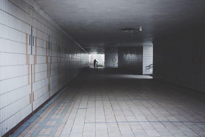 Walk Tunnel Man Bundang Korea Korean Light And Shadow Streetphotography Street Lighting Bycicle Walking Around Hello World Taking Photos Enjoying Life