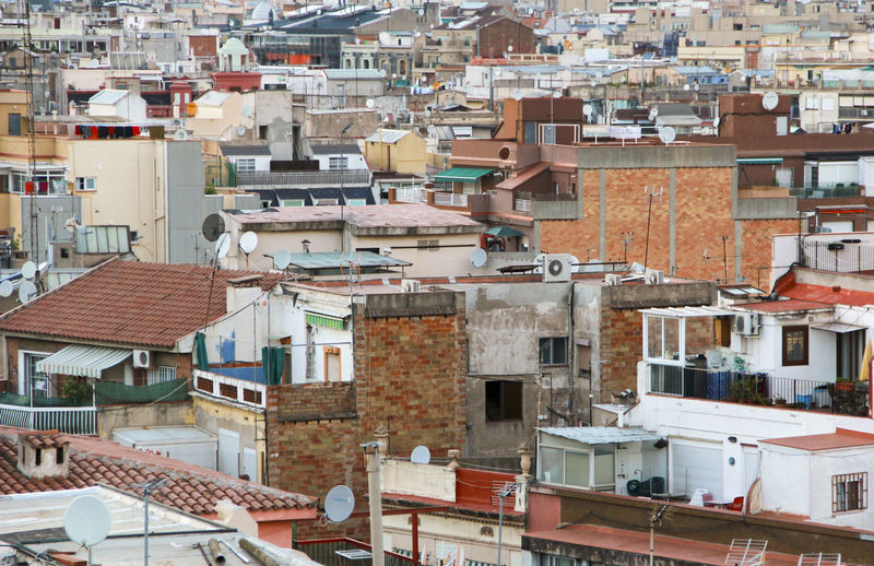 Barcelona everywhere Apartment Architecture Barcelona Building Exterior Chaos City City Life Cityscape Community Development Elevated View Full Frame Outdoors Roof Rooftop Town TOWNSCAPE Urban