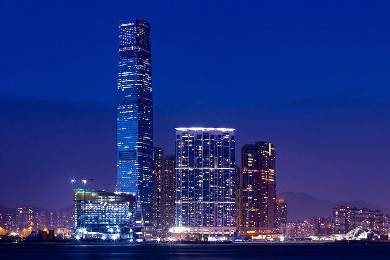 Night Discoverhongkong HongKong Architecture Building Exterior Illuminated Built Structure City Night Skyscraper Building Urban Skyline