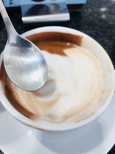 Food And Drink Drink Coffee Kitchen Utensil Eating Utensil Refreshment Coffee - Drink Spoon Coffee Cup Still Life Close-up Cup Mug