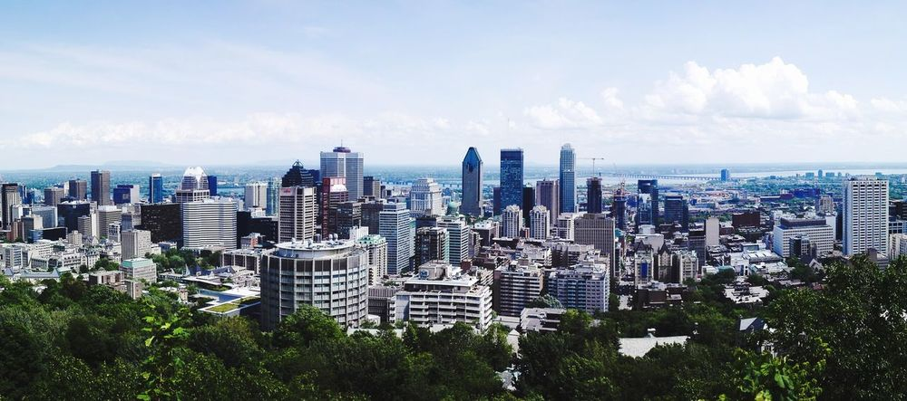 Montréal Canada Quebec City Modern Travel Outdoors Travel Destinations Skyscraper Tower Built Structure Urban Skyline Cityscape Travel Photography Panoramic Panorama Viewpoint Scenics