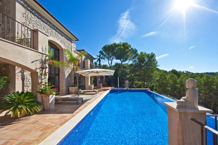 Mallorca villa Villa Mallorca Property Real Estate Blue Plant Tree Architecture Swimming Pool Nature Sky Building Exterior Built Structure Pool Day Sunlight Water Growth Sunny Poolside Luxury Building