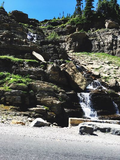 Waterfall Nature Rock - Object Motion Beauty In Nature Water Outdoors Scenics Day No People Tranquil Scene Sunlight Tree Sky