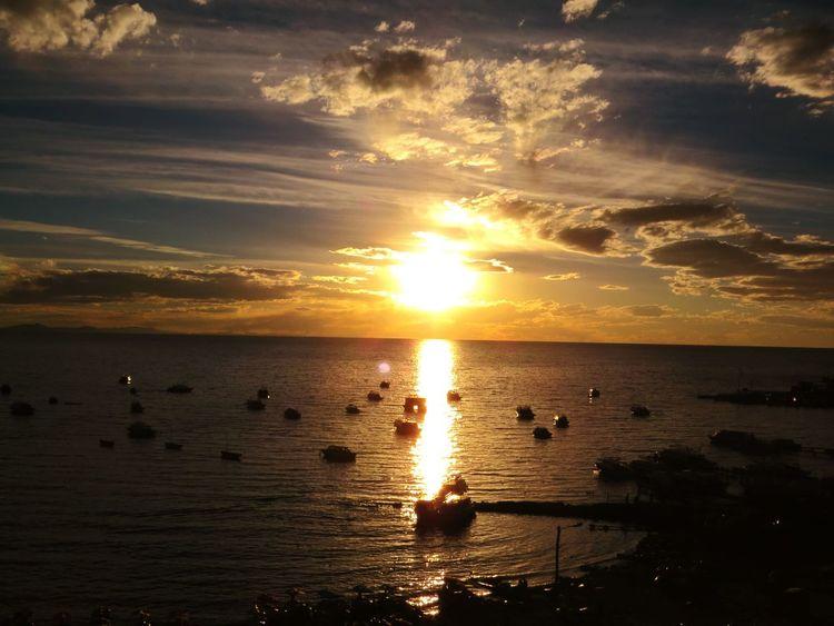 Atardecer en Copacabana-Bolivia 🌅43 Golden Moments Summer Summertime Sunset Clouds And Sky Sun Landscape Beach Bolivia Copacabana Bolivia Sunset_collection