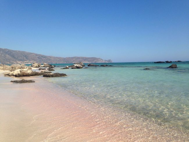 Not everywhere you can find a beach with pink sand and crystalline water . Pink Beach Nature Reserve Beauty In Nature Feel The Journey Elafonisi Crete Greece Neighborhood Map My Best Travel Photo