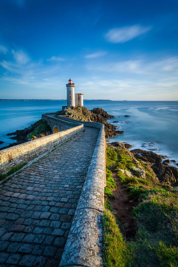 Brittany France Architecture Building Exterior Built Structure Cloud - Sky Grass Lighthouse Marine Nature Nautical No People Phare Scenics Sea Seascape Tranquility Water