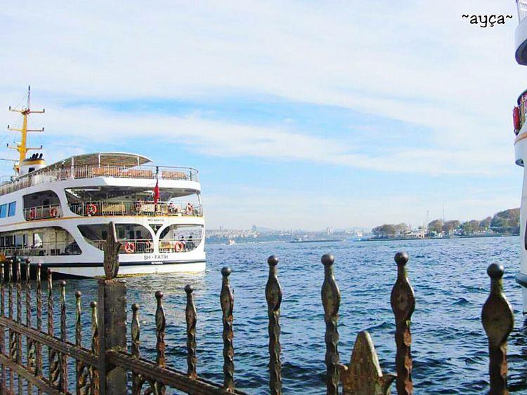 Istanbul City Turkey üsküdarvapuru What Do You Think? How's The Weather Today? Sea And Sky Sea View Vapur Iskelesi Hello World Beautiful City