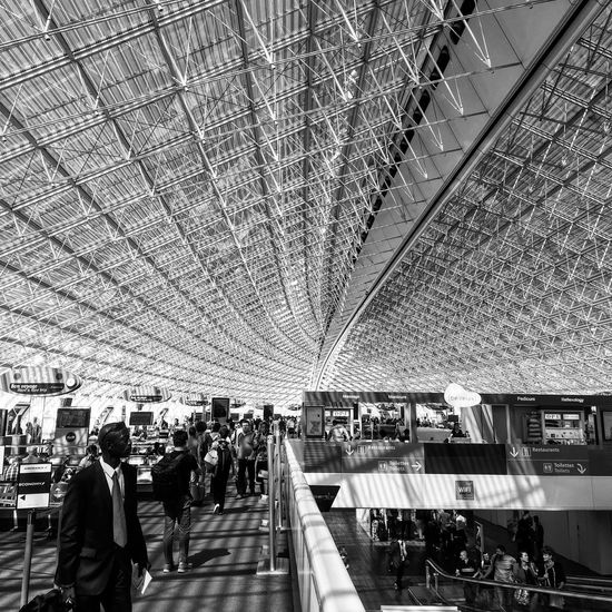 Airport Charles De Gaulle Traveling Blackandwhite Connected By Travel