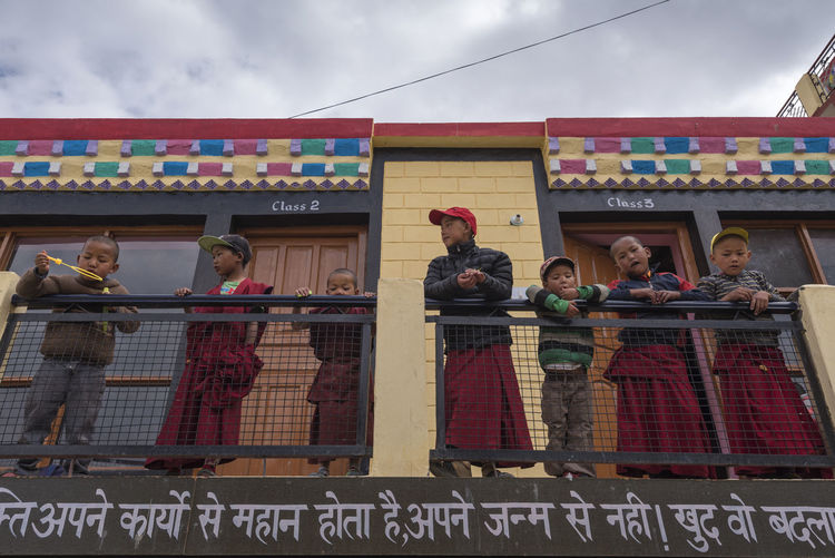 School kids at Dhankar, Spiti Valley Children Dhankar Dhankar Monastery India Kids Students Travel Architecture Building Exterior Built Structure Classroom Cloud - Sky Day Himachal Mid Adult Outdoors People Real People School Sky Small Group Of People Spiti