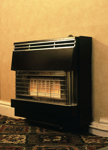 old style gas heater 70's Gas Fire Gas Heater Heat Hot Hotel Indoors  Old Old-fashioned Retro