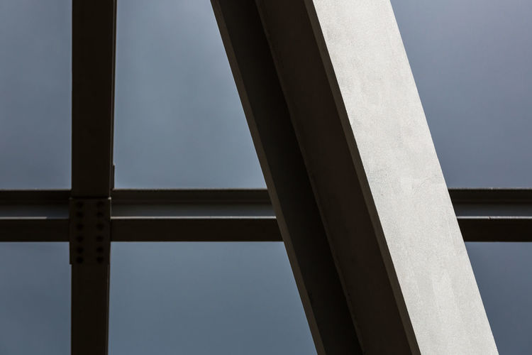 Metal structure against clear sky