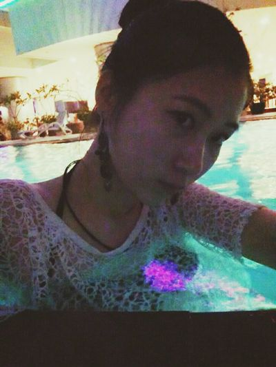 Hello Thailand Relaxing Swimming Pool At Night Swimsuit Fashion