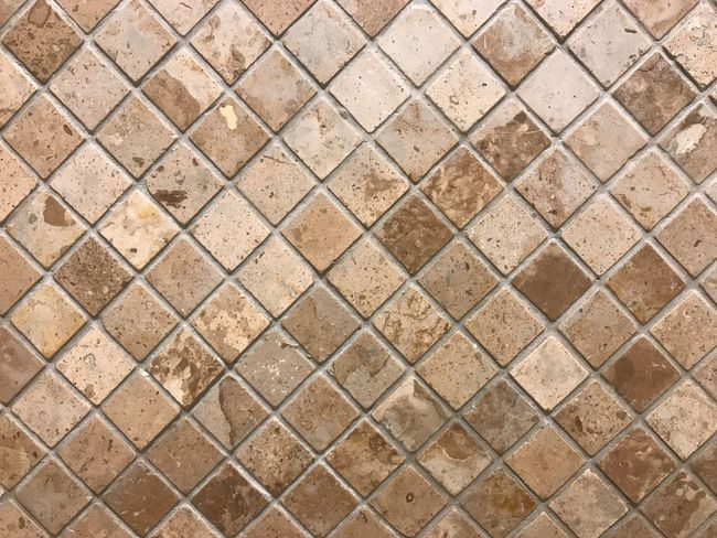 Close-up abstract cube brick block wall pattern textured background. Full Frame Backgrounds Pattern No People Textured  Day Metal Shape Wall - Building Feature Design Outdoors Geometric Shape Close-up Brown Repetition Directly Above Sunlight Nature High Angle View Wall