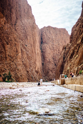 Beauty In Nature Day Leisure Activity Men Moroccan Nature Mountain Nature Outdoors Real People River Scape Scenics Sky Water Waterfront