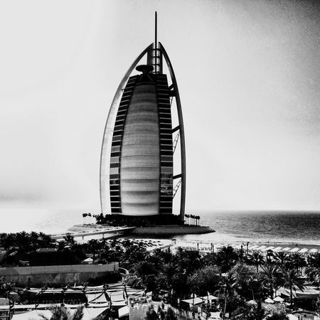 BurjAlArab Dubai Travelling Black & White Sea Wildwadi