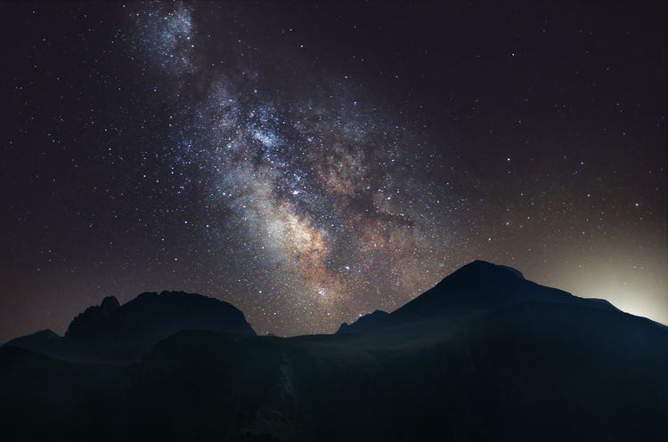 Milky Way over Mount Olympus Constellation Galaxy God Gods Gravity Greek Heaven Romance Celestial Environment Greece History Mountain Mythical Mythology Nebula Night Planet Sky Space Star Stars Summer Telescope Universe