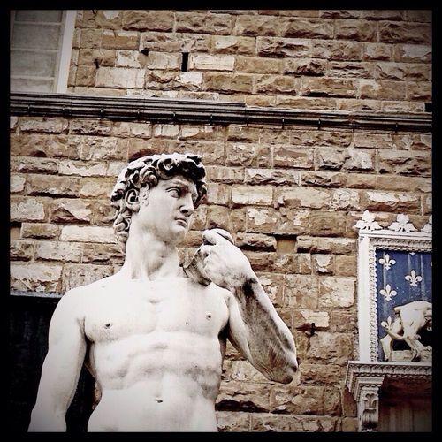 Dave. A copy of the Michelangelo masterpiece in Piazza della Signoria. Florence Sculture Art Travel
